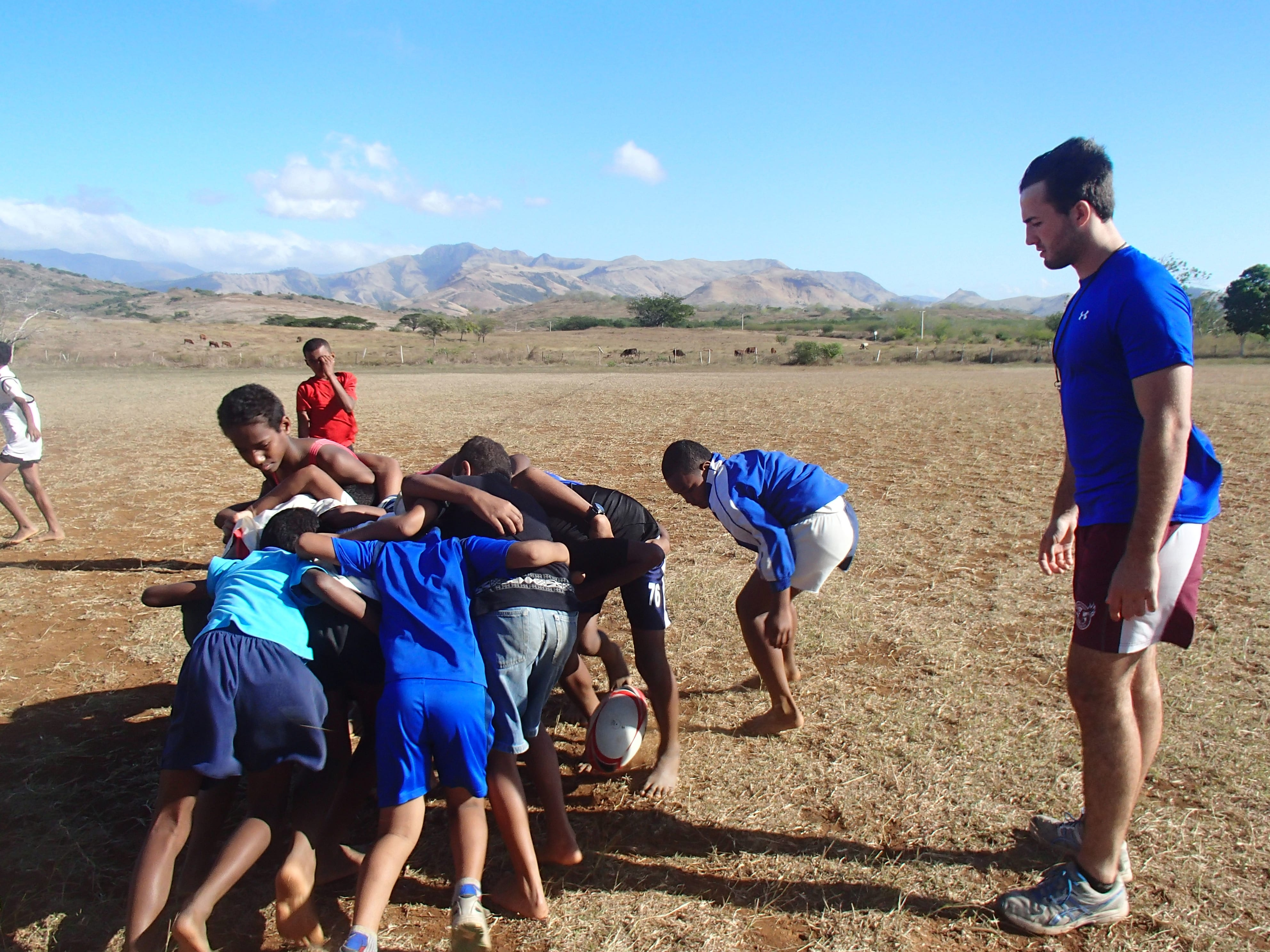 picture of rugby in Fiji School