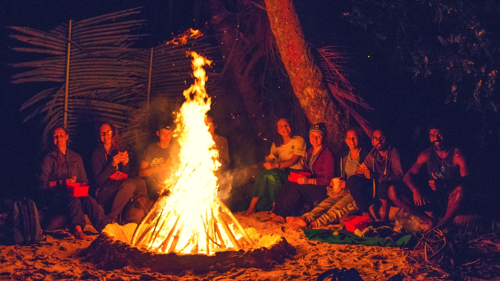 campfire in fiji community