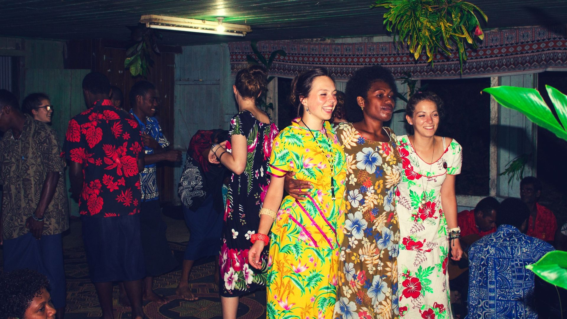 dancing in fiji village