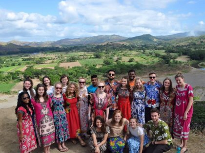 Annabel, Bethan and Fellow Bristol University Students Return From Fiji