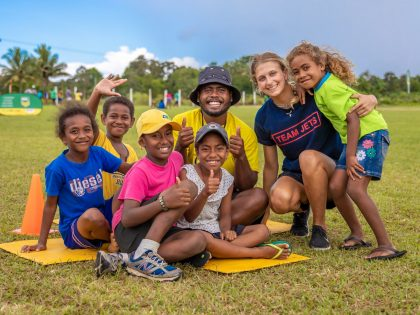 Sports Camp in Fiji with James Cook Students
